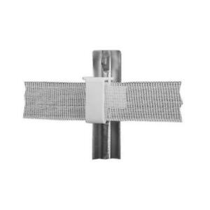 Electric Fence Insulator Studded T post White