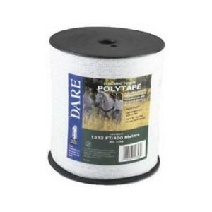 Electric Fence Tape White Poly amp 5 wire Stainless Steel 5 in X 1 312 ft