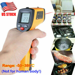 Digital Non contact Lcd Ir Laser Infrared Temperature Thermometer Pyrometer Gun