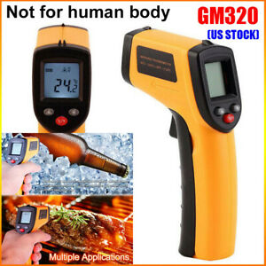 Non Contact Lcd Ir Laser Infrared Digital Temperature Thermometer Gun pyrometer