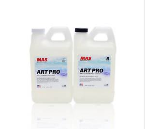 Art Resin Epoxy Clear And Hardener 2 Part Professional Grade Crystal1gallon Kit
