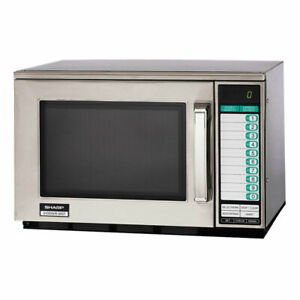 Sharp R22gtf 1200w Commercial Microwave With Touch Pad 120v