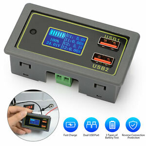 12v 24v Dual Usb Dc Led Digital Display Car Automotive Voltmeter Battery Monitor