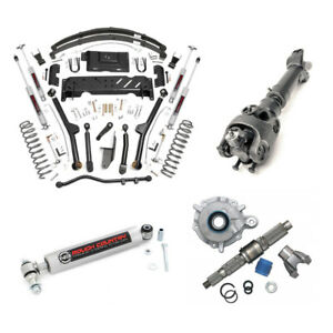 Rough Country 6 5in Long Arm Susp Lift Kit For Jeep Cherokee Xj 1984 01 Np231