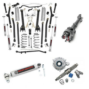Rough Country 6 In Complete Long Arm Susp Lift Kit Fits Jeep Wrangler Tj 97 06