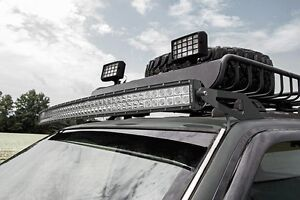 Rough Country 50 Curved Led Light Bar Kit For Jeep Grand Cherokee Zj 93 98