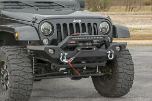 Rough Country Jeep Full Width Front Led Winch Hd Bumper Jk Jl Gladiator Jt