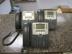 Lot Of 3 Cisco Spa509g 12 line Ip Poe Voip Display Business Office Phones