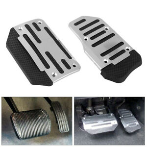Universal Silver Non slip Automatic Gas Brake Foot Pedal Pad Cover Accessories