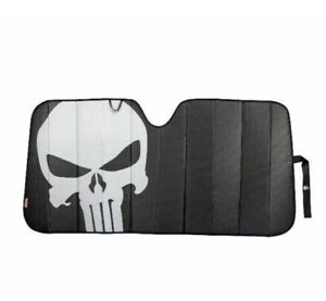 New The Punisher Car Truck Sun Shade Windshield Front Folding Skull Marvel
