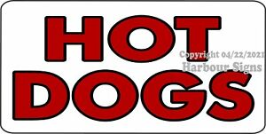 Hot Dog Decal choose Size Hot Dogs Concession Food Truck Vinyl Sign Sticker
