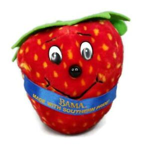 Vtg Bama Foods Strawberry Preserves Plush Made With Southern Pride Animal Fair