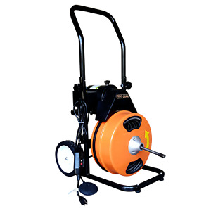Drain Cleaning Machine 75 x1 2 Electric Sewer Snake Drain Auger 5 Cutters