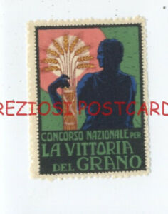 National COMPETITION for VICTORY of WHEAT ITALIAN POSTER STAMP ca1928 $6.95