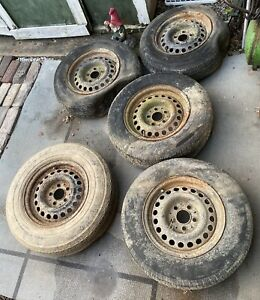 1971 Mercedes Benz 280 Sel 14 5 Lug Stock Rims Wheels X5 With Lugnuts