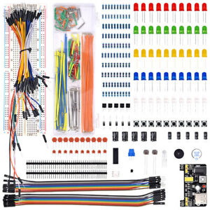 Electronics Component Basic Kit With 830 Tie points Breadboard Cable Resistor Us