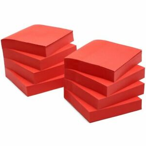 8 pad Sticky Notes 3x3 Inch Bright Red Self stick Pads 100 sheet Per Pad
