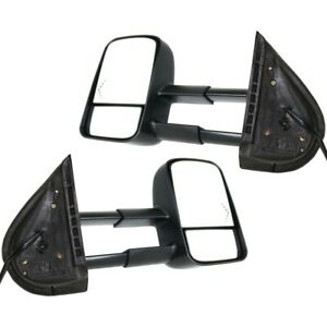 Set Power Towing Mirrors For 07 13 Chevy Silverado 1500 2500 Heated Arrow Signal