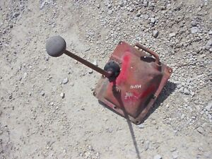 Massey Harris 44 Mh Tractor Transmission Housing Cover Gear Shifter