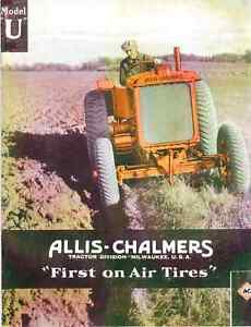 Allis chalmers U first On Air Tires Tractor Catalog Sales Brochure Reprint