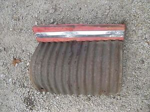 Massey Ferguson 65 Tractor Front Nose Cone Grill Screen Section W Chrome Strip