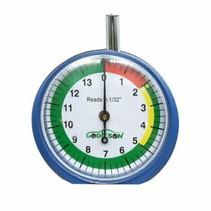 Dial Type Tire Tread Depth Gauge Prefessional For Motorcycle Cartruck 132nds