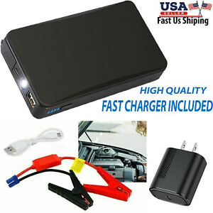 12v 20000mah Mini Portable Car Jump Starter Power Booster Battery Charger Bk