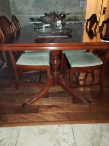 Mahogany Drop 3 Leaf Dining Table With 6 Chairs Duncan Phyfe