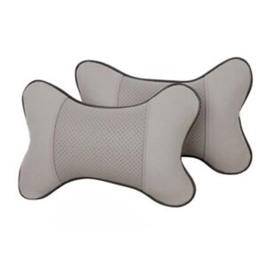 Auto Car Seat Headrest Neck Rest Pillow Leather Support Soft Cushion Pad Us