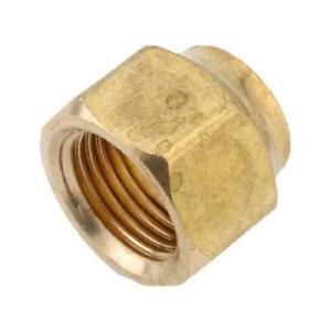 Anderson Pipe Fittings Short Refrigerator Flare Nut Lead free Brass 5 8 in