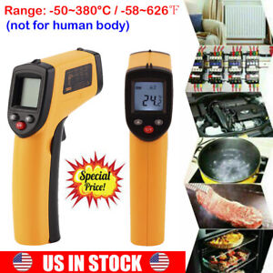 Non contact Lcd Ir Infrared Digital Temperature Laser Thermometer Gun Pyromet A