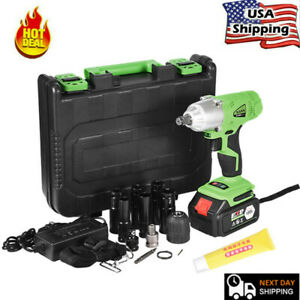 Electric Brushless Cordless Impact Wrench 16800mah 1 2 Drill High Torque Tool