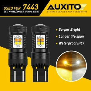 Auxito 7443 7440 Led Switchback White Amber Turn Signal Dual Color Light Bulbs