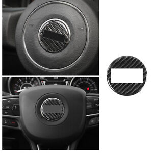 Steering Wheel Sheet Ring Decor Trim Fit For Jeep Cherokee 2014 20 Carbon Fiber
