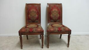 Pair Ethan Allen Townhouse Regency Dining Room Side Chairs B
