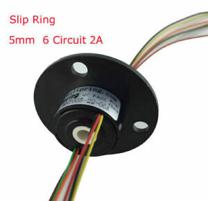 Slip Ring Through Hole Dia 5mm 6 Circuit 2a For Wind Power Generator L