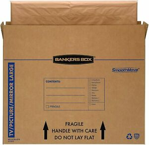 Bankers Box Smoothmove Tv picture mirror Moving Box Large 48 X Kraft