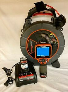 Ridgid Seesnake Video Drain inspection System W Ca 350 Camera Charger Batteries