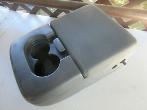 1997 2003 Ford F 150 F150 Center Console Arm Rest Storage Compartment Gray Oem