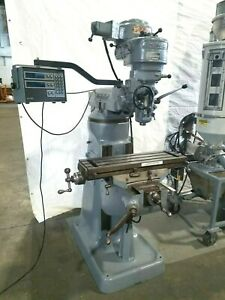 Birdgeport Milling Machine 32 With Acu Rite Millmate Dro Controller Collets