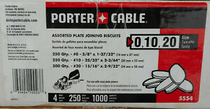1000 Porter Cable Plate Joining Biscuits In Size 0 10 20