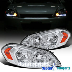 For 2006 2013 Chevy Impala 2006 2007 Monte Carlo Led Drl Headlights Head Lamps