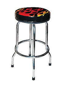 Atd Tools 81056 Shop Stool With Flame Design