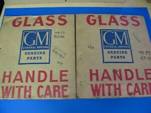 49 50 51 52 1949 1952 Chevy Belair Convertible Nos Gm Vent Window Glass Clear Pr