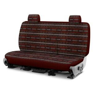 For Chevy Silverado 2500 04 Southwest Sierra 2nd Row Maroon Custom Seat Covers