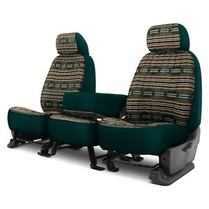 For Dodge Ram 3500 02 Southwest Sierra 1st Row Green Custom Seat Covers