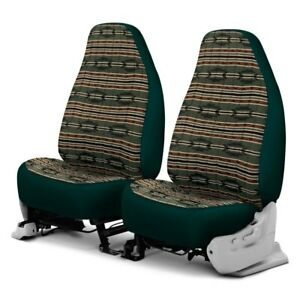 For Ford Econoline 99 06 Southwest Sierra 1st Row Green Custom Seat Covers