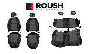 2012 2014 Mustang Convertible Roush Rs3 Front Rear Seat Upholstery Black Grey