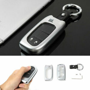 Fit For Jeep Cherokee 14 2020 Smart Remote Key Fob Shell Cover Zinc Alloy Silver