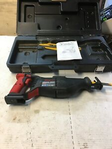 Snap On Ctrs4850 18 Volt Reciprocating Saw Works Great Tool Case Blades 0578